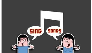 Logotipo de singsong.com, un chico y una chica cantando