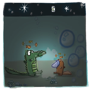 Ilustraci�n de un cocodrilo