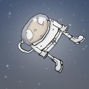 Ilustraci�n de un astronauta flotando en el espacio